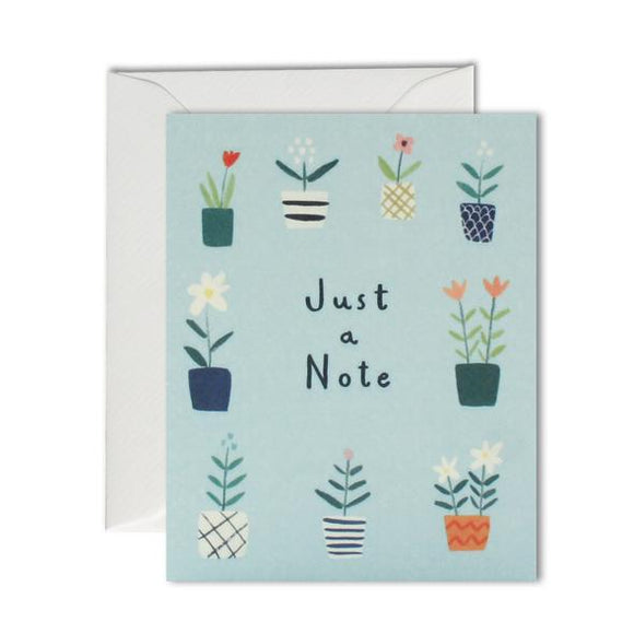 Just A Note Plant Pots Pack Of 5 Cards