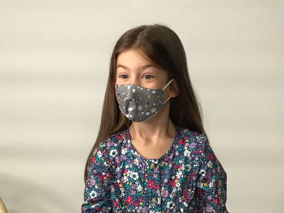 Face Masks (Toddler) Grey/Floral