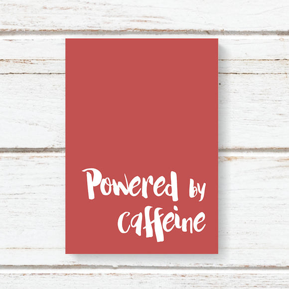 Powered By Caffeine Notebook