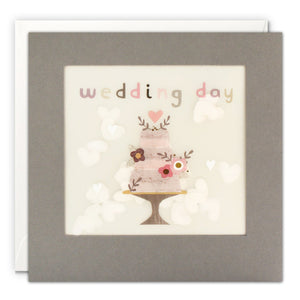 Wedding Cake Grey Paper Shakies Card