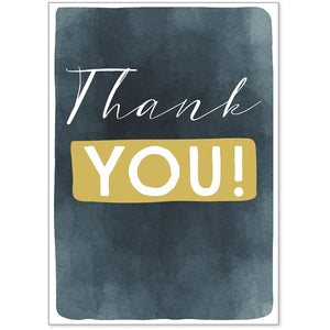 Blue Ink Thank You Stationery