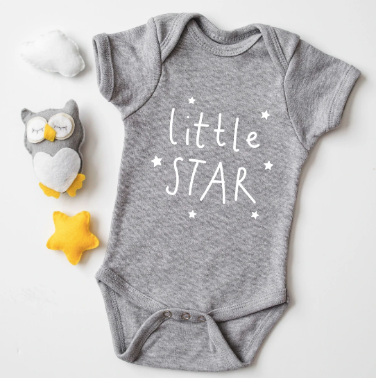 Babygrow - Little Star - Grey