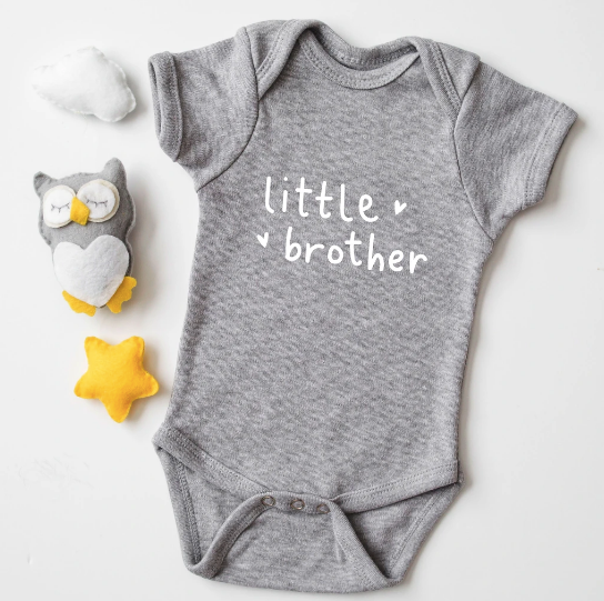 Babygrow - Little Brother - Grey