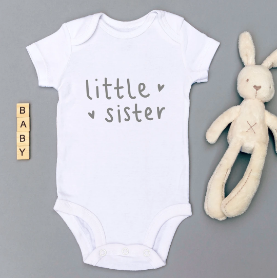 Babygrow - Little Sister - White