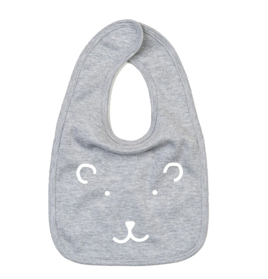 Bib - Bear - Grey
