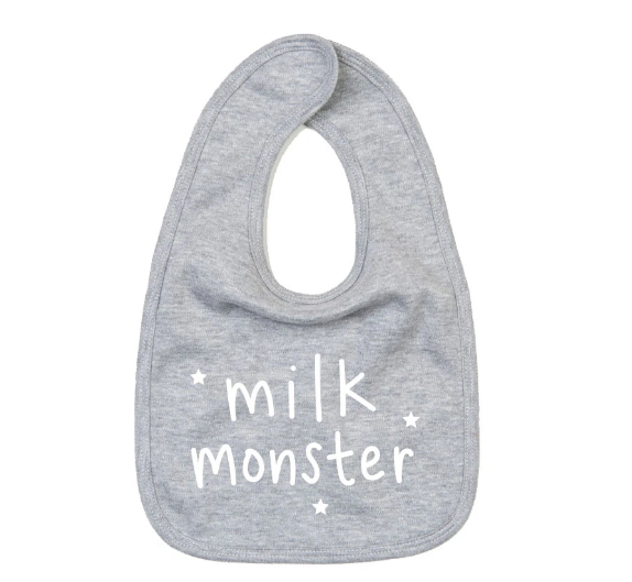 Bib - Milk Monster - Grey