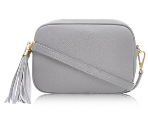 Light Grey Cross Body Tassel Bag