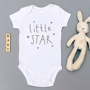 Babygrow - Little Star - White