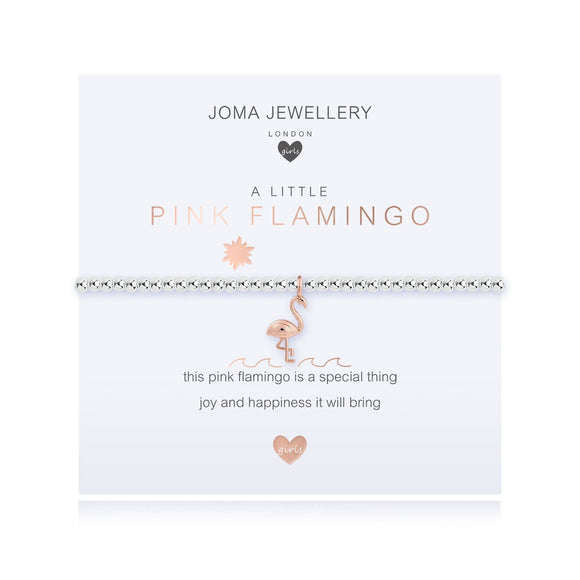Joma Jewellery - Childrens a little Pink Flamingo Bracelet
