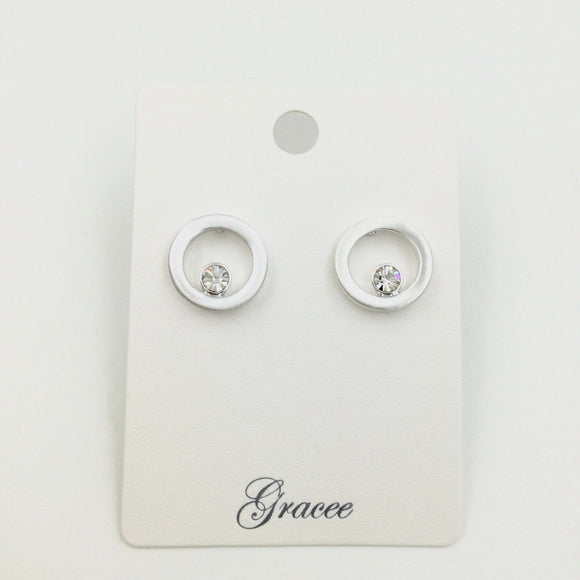 Gracee Jewellery - Silver Loop with Diamante