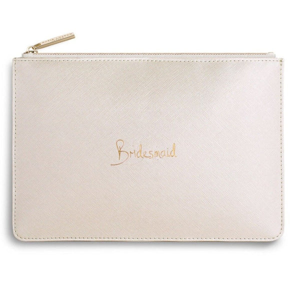 Katie Loxton - Pouch - Metallic White Bridesmaid