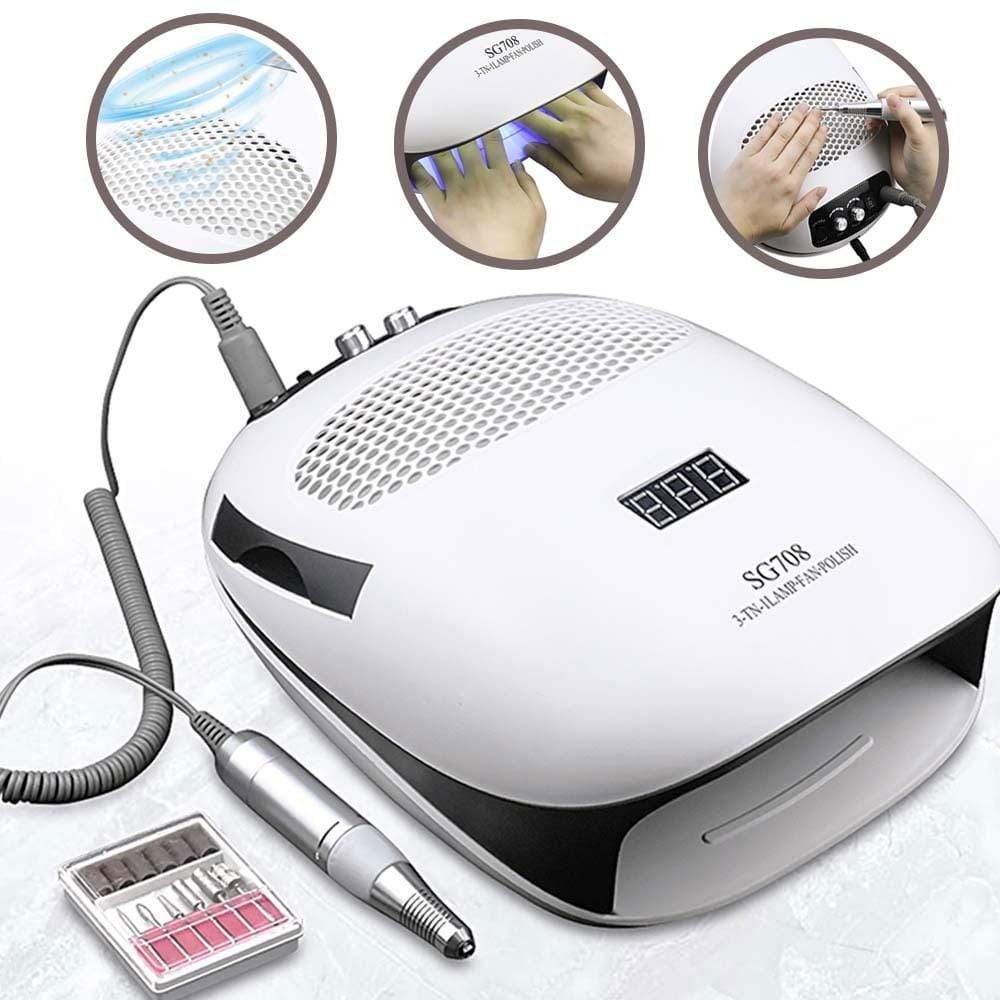 3 in 1 - Limited Time Offer - Nail Drill | LED Nail Lamp | Nail Vacuum All New