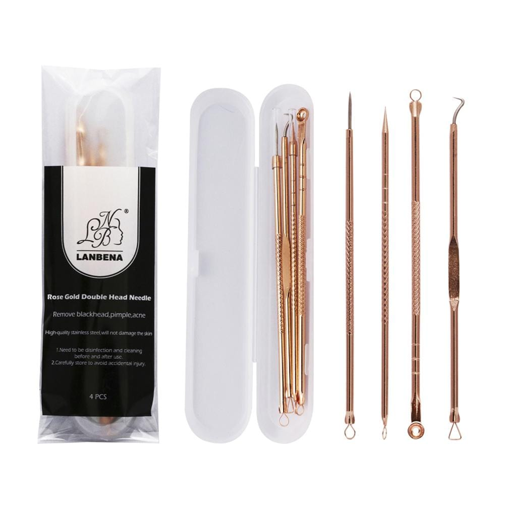 4pc Acne Extractors - Rose Gold Colour