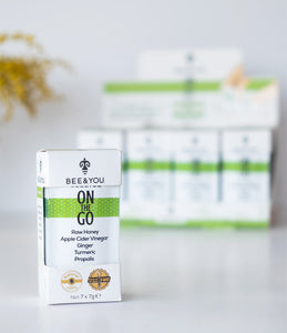 Bee & You Propolis On the Go Apfelessig (mit Zimt) – Box (12 Stück)