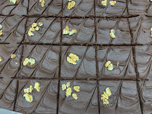 BROWNIES Fudge Nut Bakery Fresh 20 Cut