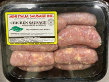 Load image into Gallery viewer, Sausage CHICKEN with CHEESE and PARSLEY Links- 2lb Pack