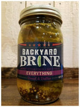 Load image into Gallery viewer, Pickles-Backyard Brine- EVERYTHING BREAD & BUTTER- 16oz Per Jar
