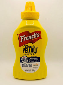 MUSTARD French's-CLASSIC YELLOW-12oz Squeeze Bottle