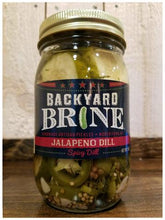 Load image into Gallery viewer, Pickles-Backyard Brine- JALAPENO DILL- 16oz Per Jar