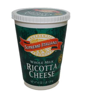 Ricotta- Whole Milk- 48oz- Per Container