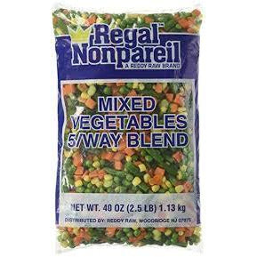 Frozen Mixed Vegetables-2.5lbs Per Bag