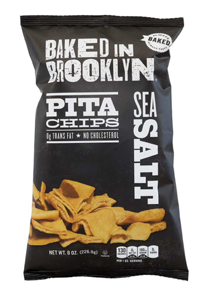 Baked BKLYN Pita Chips SEA SALT-8oz. Per Bag