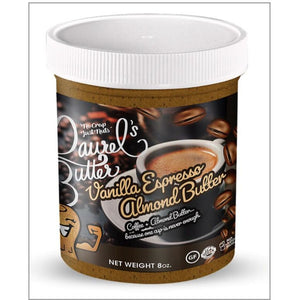 Laurel's Butter-Vanilla Espresso Almond Butter- (8oz) Per Jar
