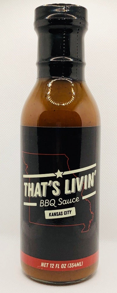 BBQ Sauce That's Livin' KANSAS CITY Flavor 12oz Bottle