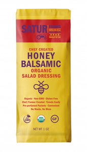 Dressing HONEY BALSAMIC Satur Farms ORGANIC 6/1oz Pack