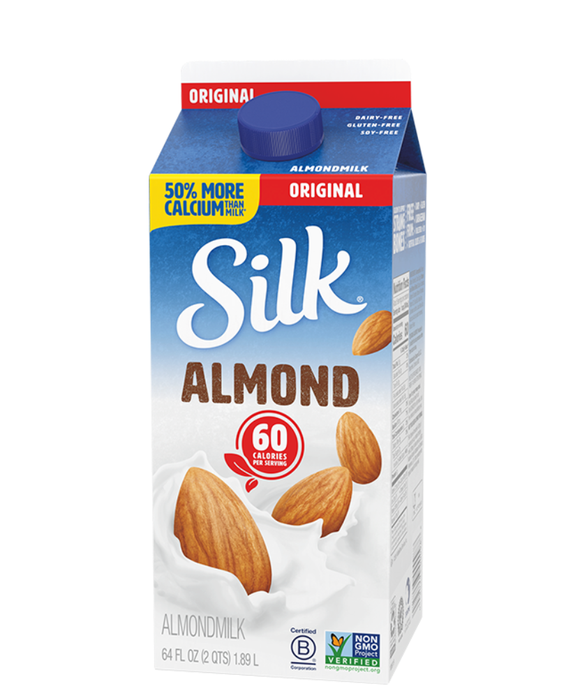 Almondmilk- ORIGINAL SILK- Half Gallon