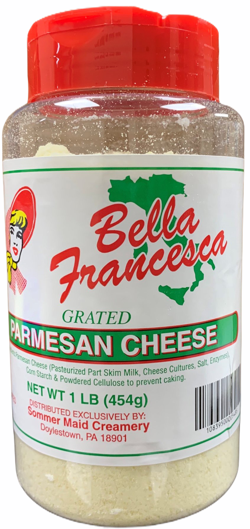 PARMESAN Grated Cheese-1LB Shaker CONTAINER