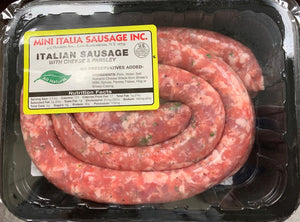 Sausage PORK with CHEESE and PARSLEY ROUND- 2lb Pack