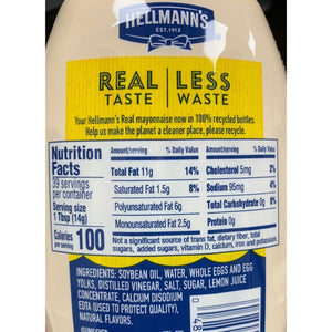 Mayonnaise Hellmann's-20oz Squeeze Bottle