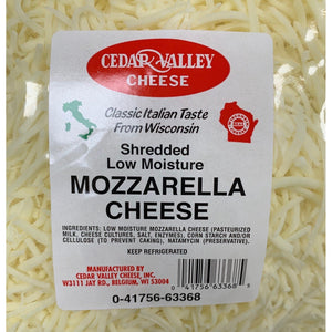 Mozzarella Cheese Shredded- 5lb Bag- Per Bag