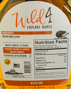 Syrup Wild 4 Organic PURE VERMONT MAPLE SYRUP 12oz Bottle