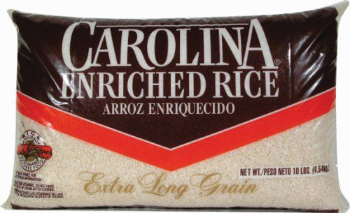 RICE White Carolina Long Grain 10lb Bag