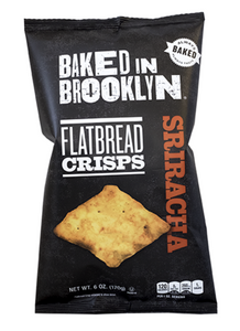 Baked BKLYN Flatbread Crisps- SIRACHA- 6oz. Per Bag