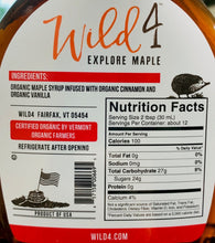 Load image into Gallery viewer, Syrup Wild 4 Organic CINNAMON VANILLA MAPLE SYRUP 12oz Bottle