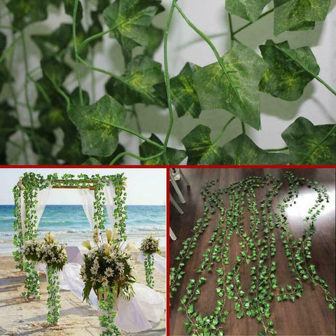 Faux Ivy Artificial Leaves Hanging Plant