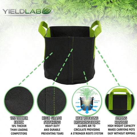 3 Gallon Plant Growing Bags (5 Pieces)