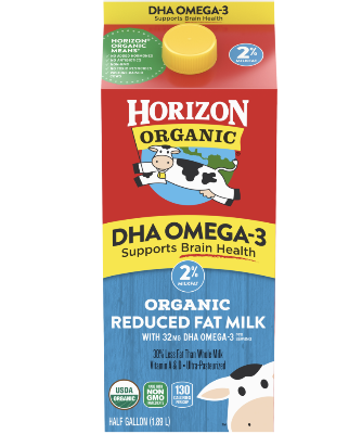 Horizon Organic 2% Reduced Fat Milk with DHA Omega-3 ( Half Gallon)