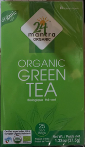 24 Mantra Organic Green Tea Bags 1.32oz (25 bags)