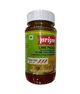 Priya extra Hot Lime With Garlic Pickle-300gm
