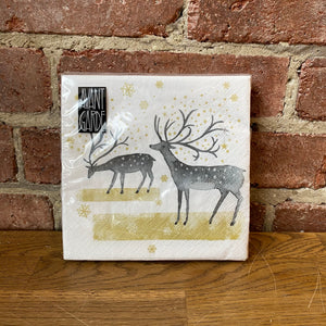 Load image into Gallery viewer, Silver Reindeer Design - 20 Napkins
