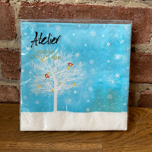 Load image into Gallery viewer, White Tree Blue Sky Design - 20 Napkins