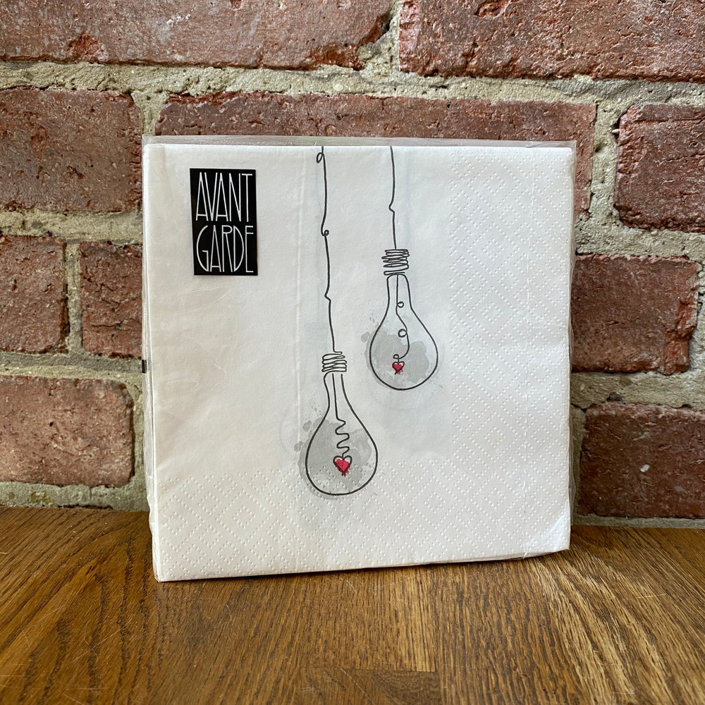 Light Bulb Design - 20 Napkins