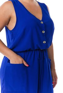 Plus Size Romper w/ Pockets