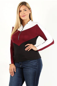 Plus Size Pullover Jacket