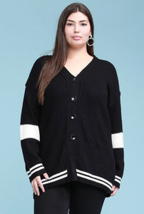 Plus Size Boyfriend Cardigan