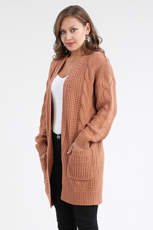 Long Cardigan Sweater w/ Pockets